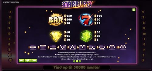 starburst spillemaskiner hos royal-pirates.com